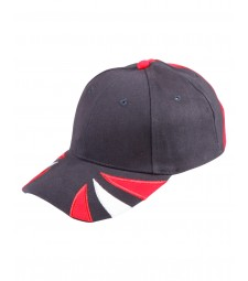 Winning Spirit Tri-Colour Heavy Brushed Cotton Contrast Cap