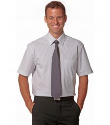 Winning Spirit Men's Ticking Stripe Short Sleeve Shirt