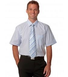 Winning Spirit Men's Fine Stripe Short Sleeve Shirt