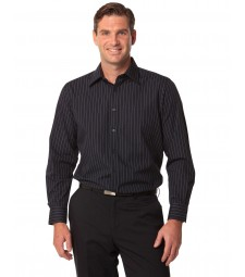Winning Spirit Men's Pin Stripe Long Sleeve Shirt