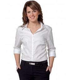 Winning Spirit Ladies' Mini Herringbone 3/4 Sleeve Shirt