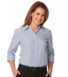 Winning Spirit Ladies' Balance Stripe 3/4 Sleeve Shirt
