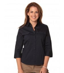 Winning Spirit Ladies' 3/4 Sleeve Military Shirt