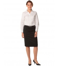 Winning Spirit Ladies' Poly/Viscose Stretch Mid Length Lined Pencil Skirt