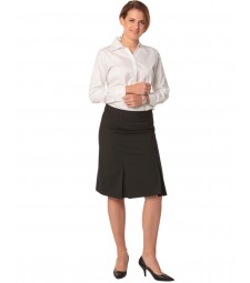 Winning Spirit Ladies' Wool Stretch Pleated Skirt