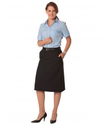 Winning Spirit Ladies' Poly/Viscose Stretch A-line Utility Lined Skirt