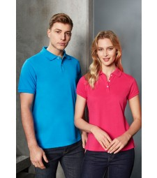 Biz Collection Mens Neon Polo