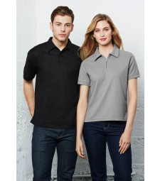 Biz Collection Mens Micro Waffle Polo