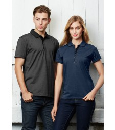 Biz Collection Mens Shadow Polo