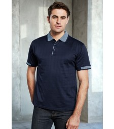 Biz Collection Mens Noosa Self Check Polo