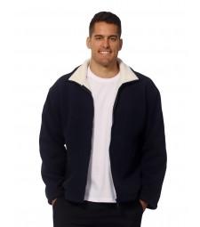 Winning Spirit Men's Shepherd Polar Fleece Contrast Jacket