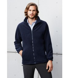 Biz Collection Mens Plain Micro Fleece Jacket