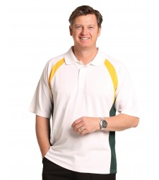 Winning Spirit Men's CoolDry® Tri-colour Contrast Short Sleeve Polo