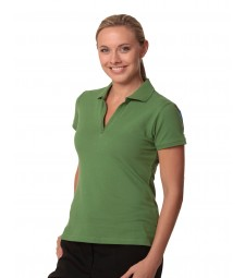 Winning Spirit Ladies' Cotton Pique Knit Short Sleeve Polo
