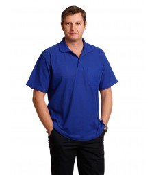Winning Spirit Poly/Cotton Pique Pocket Short Sleeve Polo