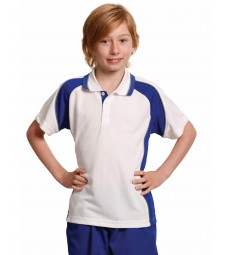 Winning Spirit Kids' CoolDry® Mini Waffle Short Sleeve Polo