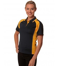 Winning Spirit Ladies' CoolDry® Mini Waffle Short Sleeve Polo