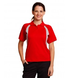 Winning Spirit Ladies' CoolDry® Mesh Contrast Short Sleeve Polo