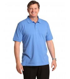 Winning Spirit Men's Cotton Stretch Short Sleeve Polo