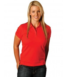 Winning Spirit Ladies' Cotton Stretch Short Sleeve Polo