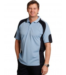 Winning Spirit Men's CoolDry® Contrast Short Sleeve Polo with Sleeve Panels