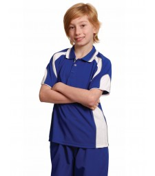 Winning Spirit Kids' CoolDry® Contrast Short Sleeve Polo with Sleeve Panels