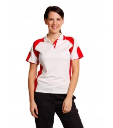 Winning Spirit Ladies' CoolDry® Contrast Short Sleeve Polo with Sleeve Panels