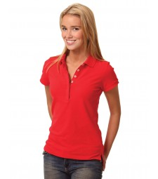 Winning Spirit Ladies' TrueDry® Solid Colour Short Sleeve Pique Polo