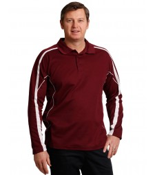 Winning Spirit Men's TrueDry® Fashion Long Sleeve Polo