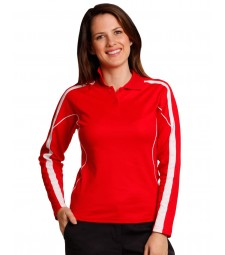 Winning Spirit Ladies' TrueDry® Fashion Long Sleeve Polo