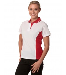 Winning Spirit Ladies' TrueDry® Contrast Short Sleeve Polo