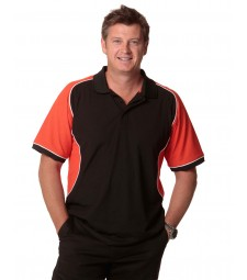 Winning Spirit Men's TrueDry® Tri-colour Short Sleeve Pique Polo