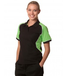 Winning Spirit Ladies' TrueDry® Tri-colour Short Sleeve Pique Polo