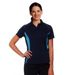 Winning Spirit Ladies' CoolDry® Short Sleeve Contrast Polo