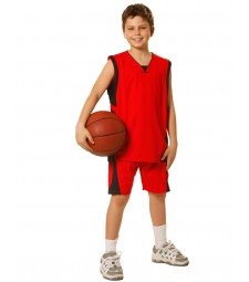 Winning Spirit Kids' CoolDry® Basketball Contrast Colour Shorts