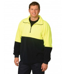 Winning Spirit High Visibility Polar Fleece Half Zip Pullover