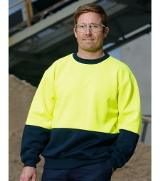 Winning Spirit High Visibility Two Tone Crew Neck Safety Windcheater