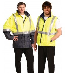 Winning Spirit Hi-Vis Three in One Safety Jacket with 3M Tapes