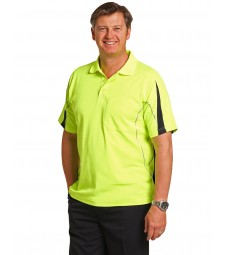 Winning Spirit Men's TrueDry® Hi-Vis Polo with Reflective Piping