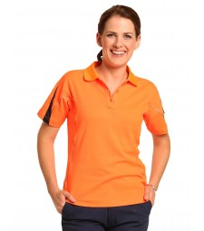 Winning Spirit Ladies' TrueDry® Hi-Vis Polo with Reflective Piping