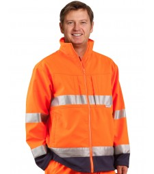 Winning Spirit High Visibility Two Tone Softshell Jacket with 3M Reflective Tapes