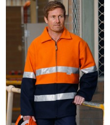 Winning Spirit Hi-Vis Two Tone Bluey Safety Jacket with 3M
