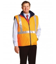 Winning Spirit Hi-Vis Reversible Safety Vest With X Pattern 3M Reflective Tapes Shell