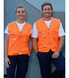 Winning Spirit High Visibility Safety Vest with Chest Pockets