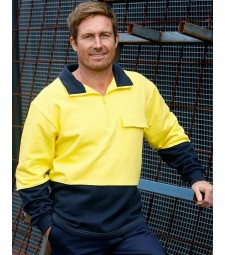 Winning Spirit Hi-Vis Two Tone Cotton Fleecy Sweat