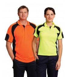 Winning Spirit Men's CoolDry® Safety Polo with Underarms Mesh