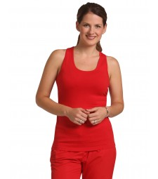 Winning Spirit Ladies' Cotton Stretch Fitted Singlet Ladies