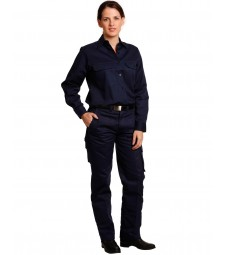 Winning Spirit Ladies' Heavy Cotton Drill Cargo Pants