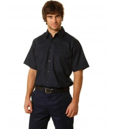 Winning Spirit Cotton Drill Short Sleeve Work Shirt