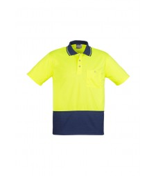 Syzmik Hi Vis Basic Spliced Polo - Short Sleeve